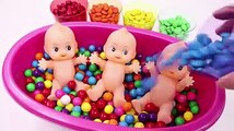 ABC Song Learn Colors MandMs Triple Baby Doll Bath Time and Surprise Toys Ice Cream Cups