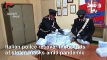 Coronavirus: Italian police seize stolen protective masks