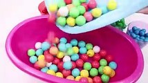 Learn Colors Baby Doll MandMs Chocolate Bubble Gum Bath Time For Children