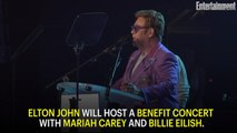 Elton John to host coronavirus benefit concert with Mariah Carey, Billie Eilish