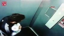 Asansördeki hareketlerine sosyal medyadan tepki yağdı