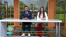 Roger González y Cynthia conectados en videollamada para hacer juntos zumba. | Venga La Alegría