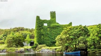 Reconstrucción digital del castillo de Menlo, Irlanda