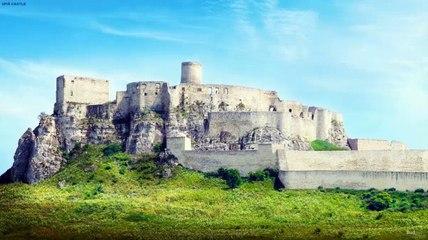 Reconstrucción digital del castillo de Spiš, Eslovaquia