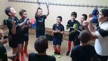 Cri de victoire des U11 contre le Hyères F.C
