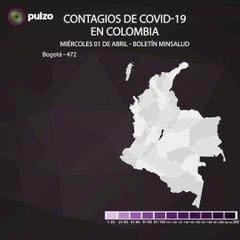 Actualización: 159 casos nuevos de COVID-19 confirmados en Colombia este 01 de abril. Ya van 1065.