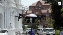 India desinfecta las calles del coronavirus con drones