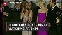 Courteney Cox On The Binge
