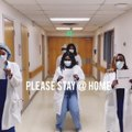 Group of Doctors Uniquely Give Motivational Message Inside Hospital Amid Coronavirus Outbreak