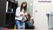 JIU & Yoohyeon cute moment feat Siyeon's singing voice