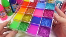 1000 Degree Ball vs Orbeez All Colors Combine Learn Colors Slime Glitter Case Toys