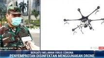 Drone Semprot Disinfektan di Jakarta Selatan