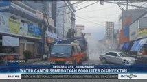 Petugas Semprot Disinfektan di Kota Tasikmalaya Pakai Water Cannon