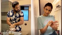 Rakul Preet Teaching Her Brother How To Wash Hands Properly