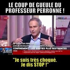 Le coup de gueule du Prof. PERONNE sur le CORANA VIRUS en FRANCE