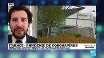 Coronavirus en France : Emmanuel Macron réunit les partenaires sociaux
