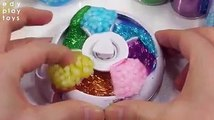 Kids Learn Colors Surprise Toys Slime Rotation Case Crunchy Glitter Water Clay Toys For Kids