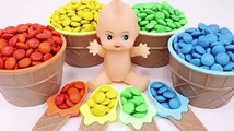 Learn Colors Baby Doll MandMs Chocolate Finger Family Song Surprise Toys Video