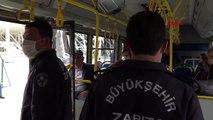 Antalyalılar toplu ulaşımda 'mesafeli'