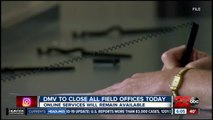 DMV temporarily closing offices