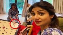 Shilpa Shetty ने Family संग खेला Carrom, ऐसे कर रहीं टाइम पास | FilmiBeat