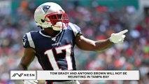 Antonio Brown and Tom Brady Won't Be Reuniting in Tampa Bay