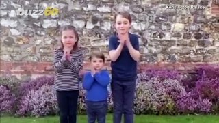 People Think Princess Charlotte Looks Just Like the Queen in Vid of Royal Kids Cheering on Healthcar
