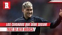 Los cuidados que debe seguir Nico Castillo tras su alta médica