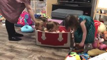 Mom Improvises Games for Her Kids While Quarantined in Home