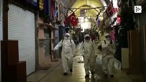 Turkey disinfects the Grand Bazaar in Istanbul