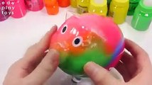 Kids Learn Colors Surprise Egg Toys Combine Rainbow Colors Slime Coin Bank