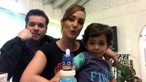 Fran Meric y Raúl Sandoval cuidan con mucho amor y cuidados saludables a su hijo durante esta cuarentena