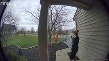 Girl Dressed as Dinosaur Sings Happy Birthday Outside Friend's House During Coronavirus Lockdown