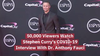 Stephen Curry's Interview With Dr. Anthony Fauci