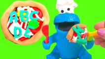 Letters and   - Cookie Monster Eats an Alphabet Play Doh Pizza