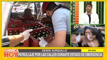 Intervienen a conductor que llevaba cajas de cerveza durante estado de emergencia
