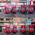 El equipo de la Roma repartió despensas a sus abonados