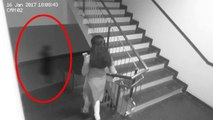 Ghost Following A Woman Caught On Cctv Camera-- Ghost Videos 2017