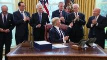 Trump promulga megaplan económico por COVID-19 para EEUU, donde casos se disparan