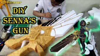 How To Make Senna's Gun (Lucian's Wife) DIY - League Of Legends