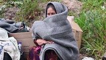 Migrantes isolados nas ilhas gregas