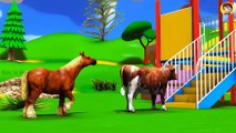 Farm Animals Babies Find Mom Videos for Kids at Outdoor Playground Amusement Park