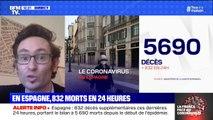 Coronavirus en Espagne: 832 décès supplémentaires en 24 heures