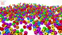 Learn Colors With Animal - Fun Animations with 3D Balls and more For Kids - Colours Videos Collection For Children