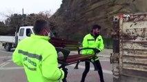 Silivri'de polis sahile girişi dubalarla kapattı