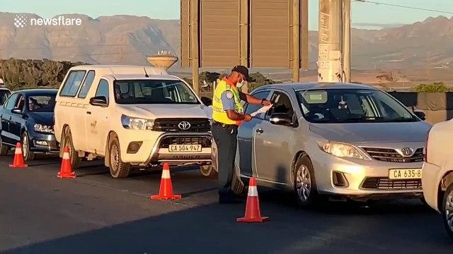 Coronavirus: Roadblocks enforce lockdown in Cape Town's Khayelitsha township