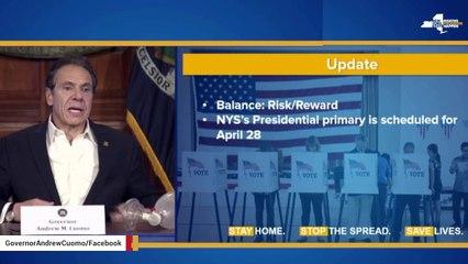 NY Gov. Andrew Cuomo Postpones State's Presidential Primary To June 23