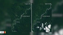Satellite Spots Disappearance Of Massive Waterfall