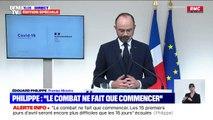 """Édouard Philippe: """"Nous finirons par sortir de cette crise sanitaire"""""""