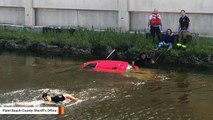 Cops Save Elderly Woman After Her Car Ends Up In Water